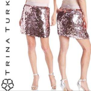 TRINA TURK Ariel Sequin Skirt